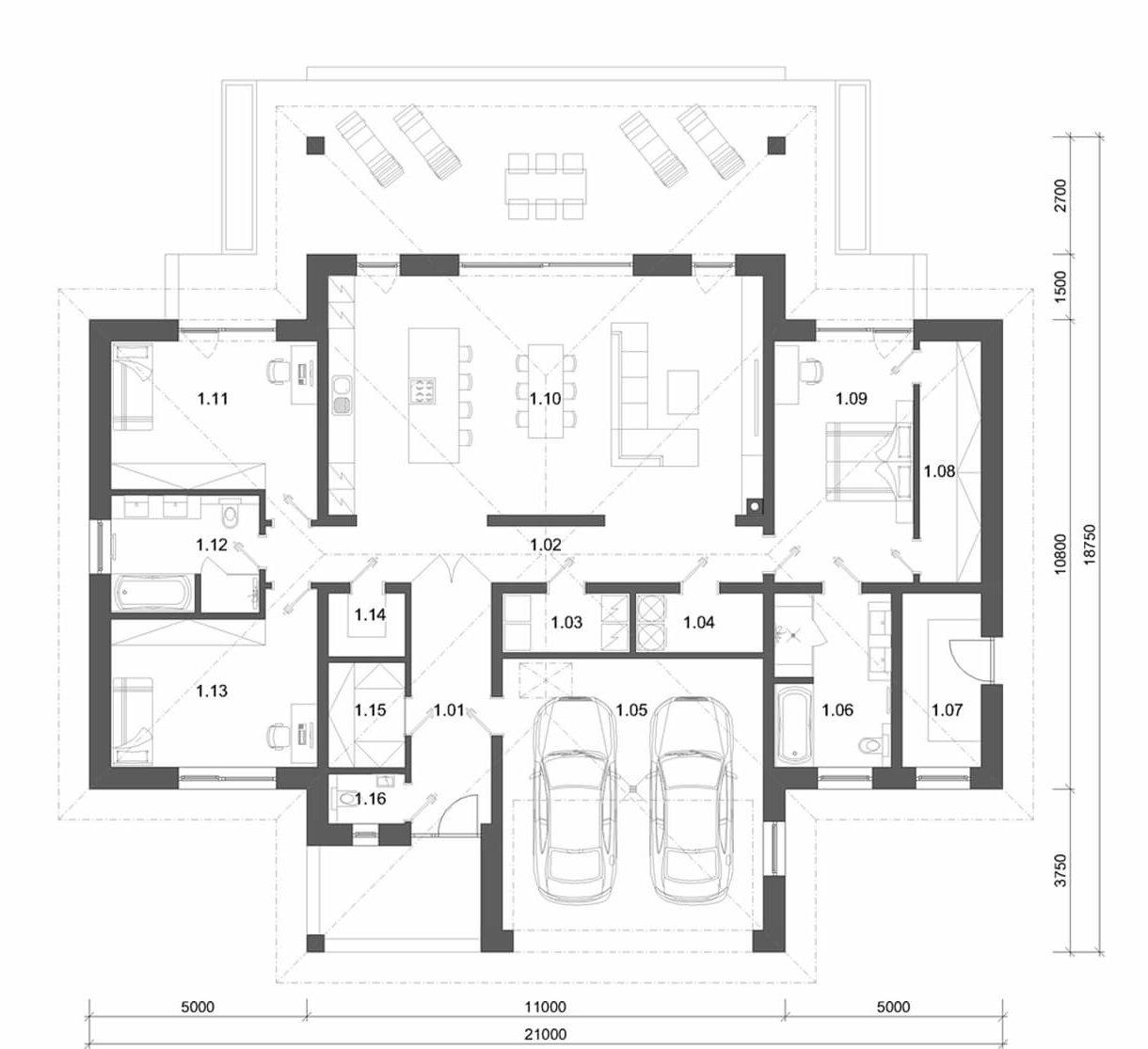 projekt rodinného domu style 233