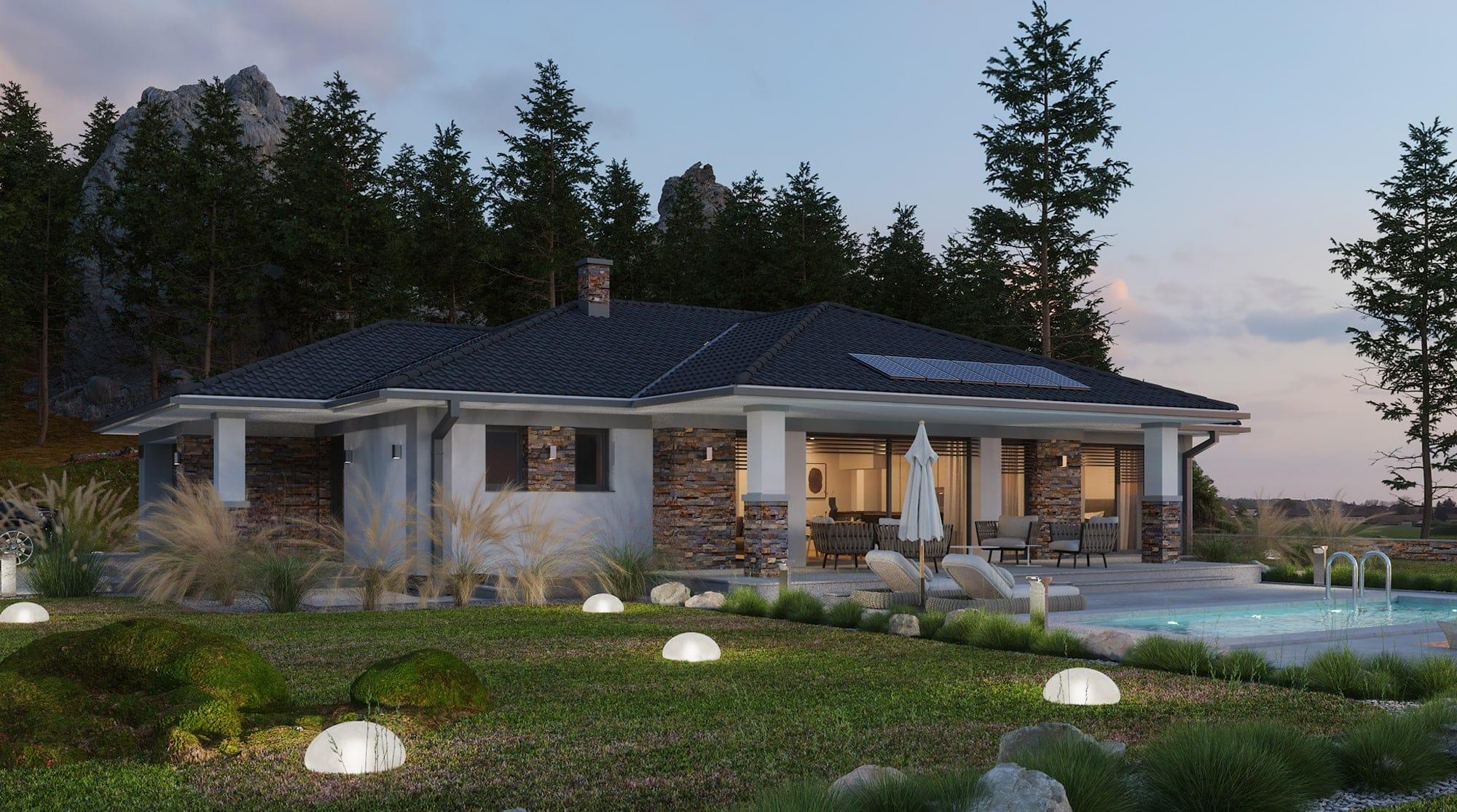 projekt rodinného domu style 237