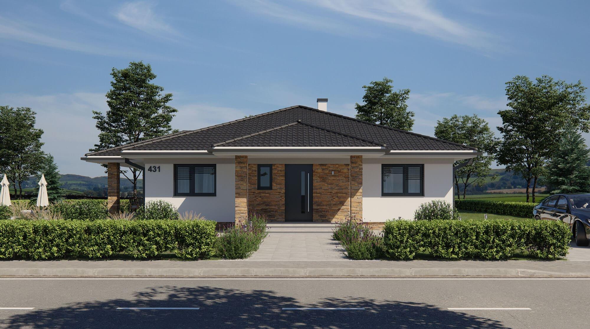 projekt rodinného domu style 242