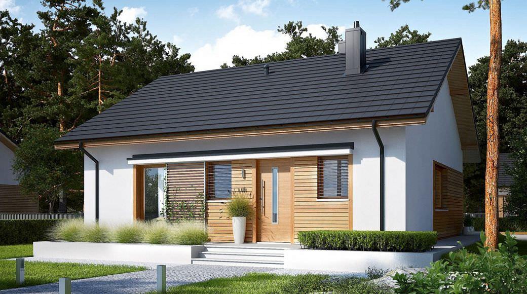 projekt rodinného domu bungalov 207
