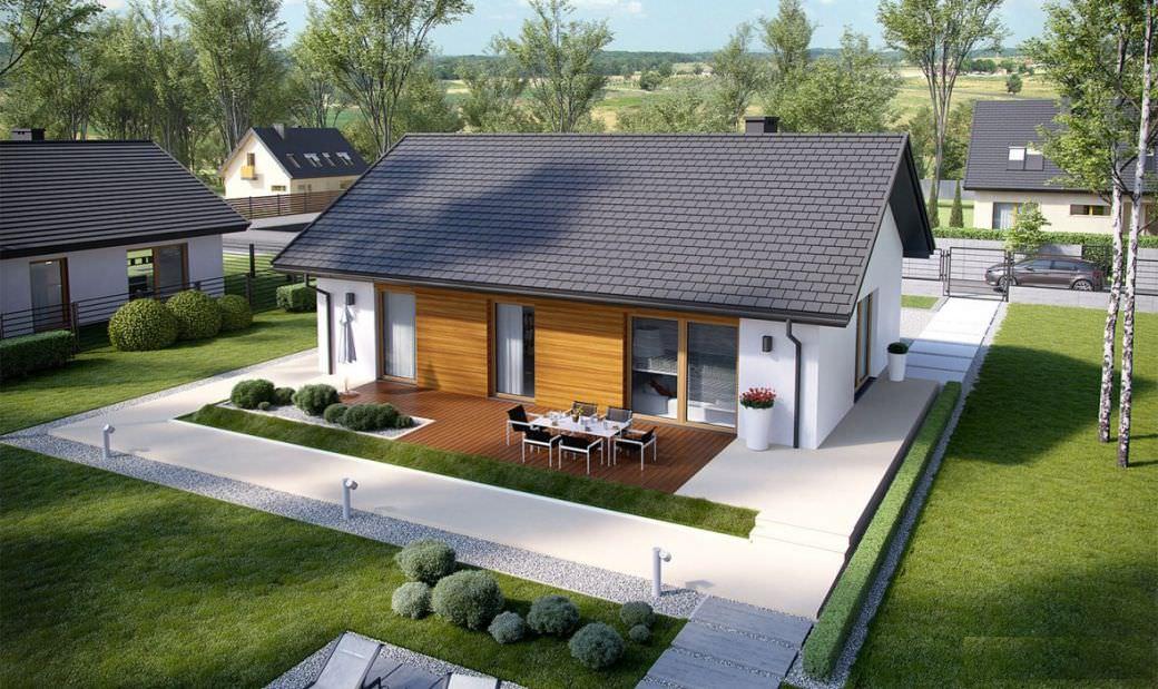 projekt rodinného domu bungalov 211