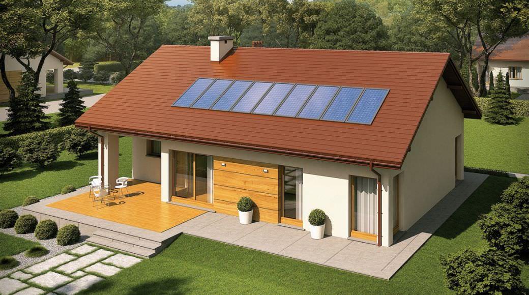projekt rodinného domu bungalov 202