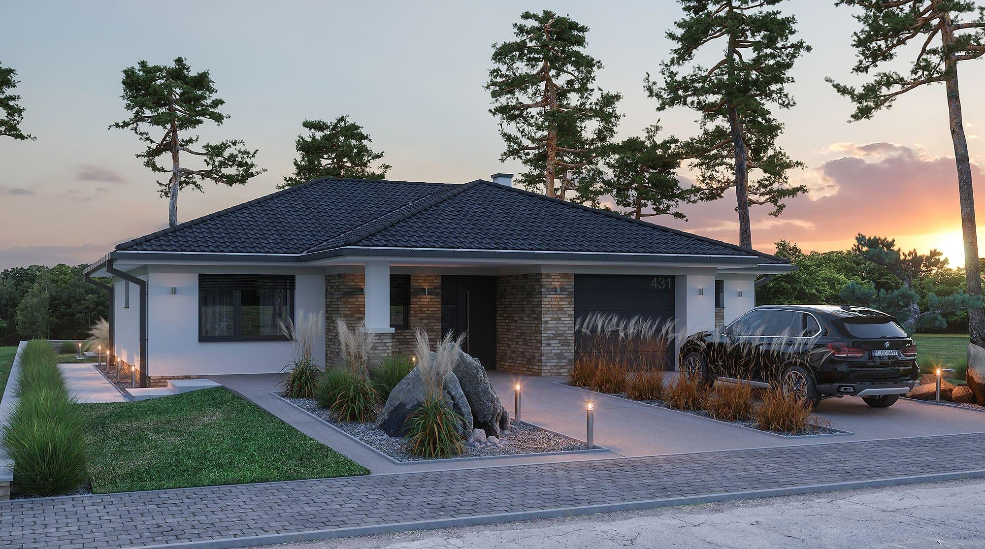 projekt rodinného domu style 235