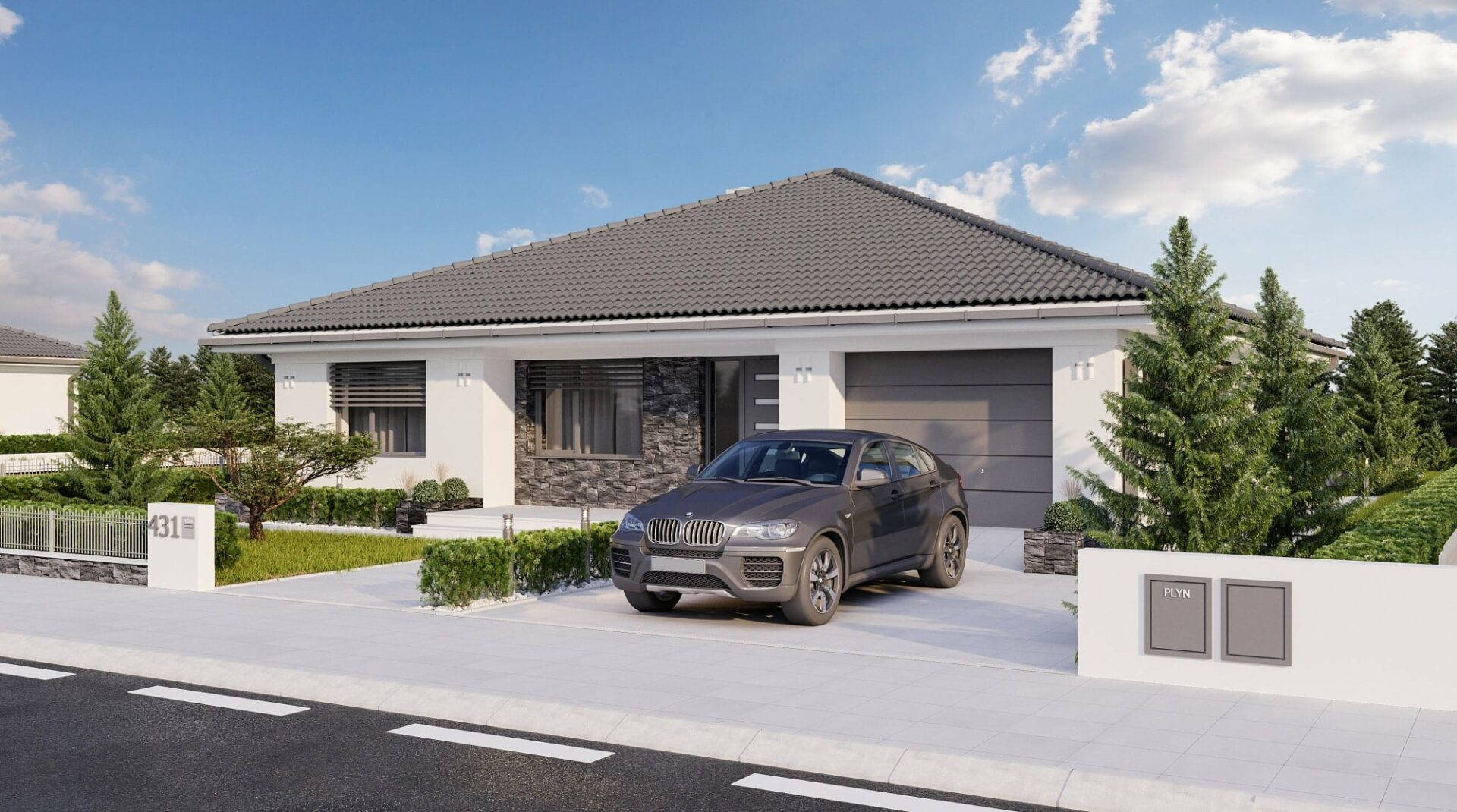 projekt rodinného domu style 226