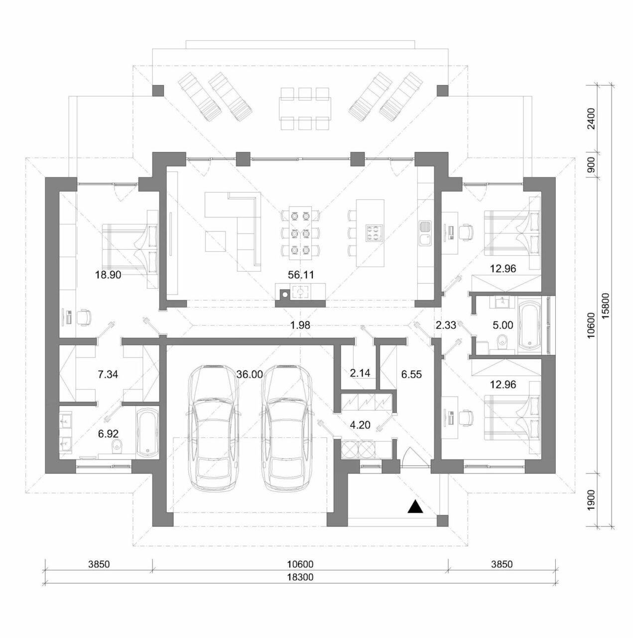 projekt rodinného domu style 239