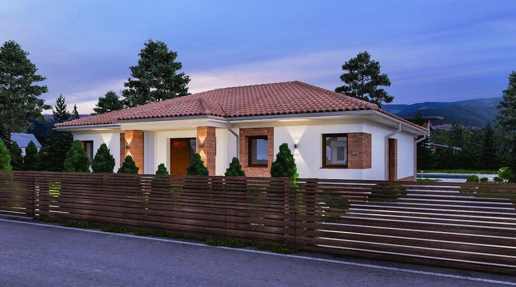 projekt rodinného domu bungalov 205