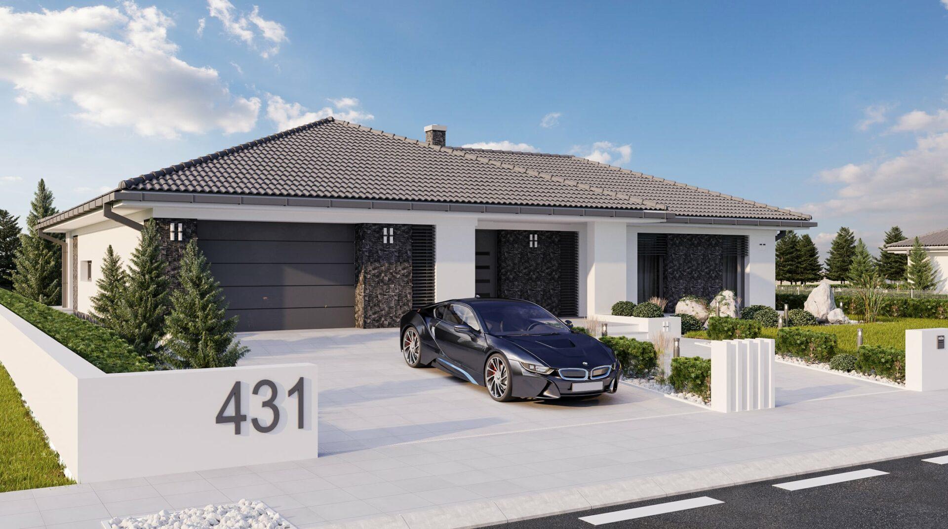 projekt rodinného domu style 227