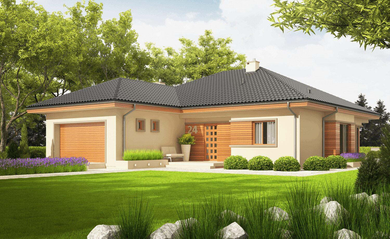 projekt rodinného domu bungalov 158