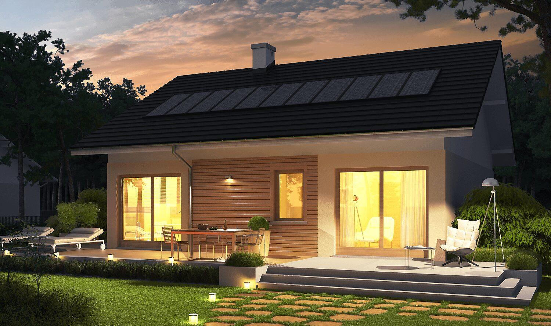 projekt rodinného domu bungalov 142