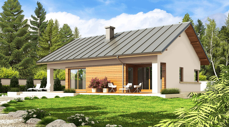 projekt rodinného domu bungalov 139