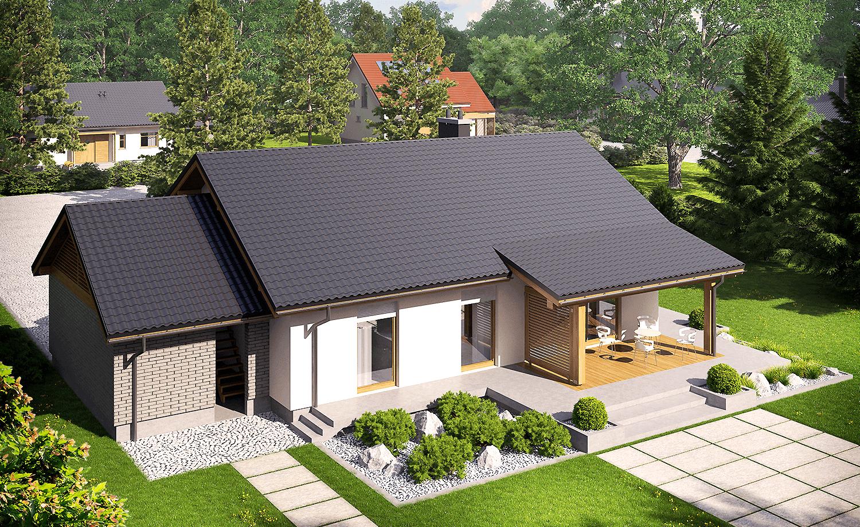 projekt rodinného domu bungalov 169