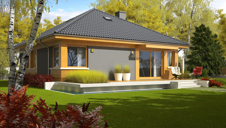 projekt rodinného domu bungalov 188